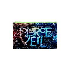 Pierce The Veil Quote Galaxy Nebula Cosmetic Bag (xs) by Onesevenart