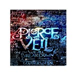 Pierce The Veil Quote Galaxy Nebula Small Satin Scarf (Square)