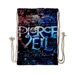 Pierce The Veil Quote Galaxy Nebula Drawstring Bag (Small)