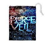 Pierce The Veil Quote Galaxy Nebula Drawstring Pouches (Extra Large)