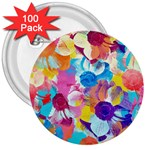 Anemones 3  Buttons (100 pack)  Front