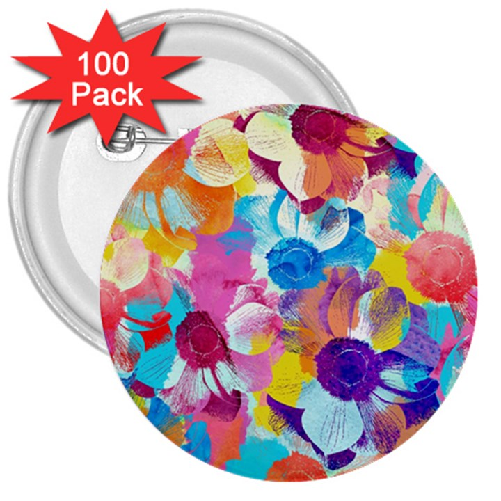 Anemones 3  Buttons (100 pack)