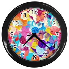 Anemones Wall Clocks (black) by DanaeStudio