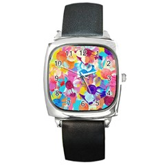 Anemones Square Metal Watch by DanaeStudio
