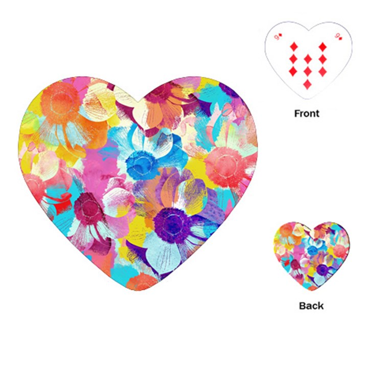 Anemones Playing Cards (Heart)