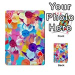 Anemones Playing Cards 54 Designs  Front - Heart7