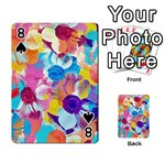 Anemones Playing Cards 54 Designs  Front - Spade8