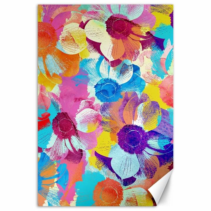 Anemones Canvas 24  x 36