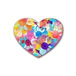 Anemones Rubber Coaster (Heart)  Front