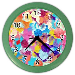 Anemones Color Wall Clocks by DanaeStudio