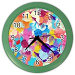 Anemones Color Wall Clocks Front