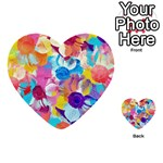 Anemones Multi-purpose Cards (Heart)  Back 48