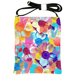 Anemones Shoulder Sling Bags by DanaeStudio