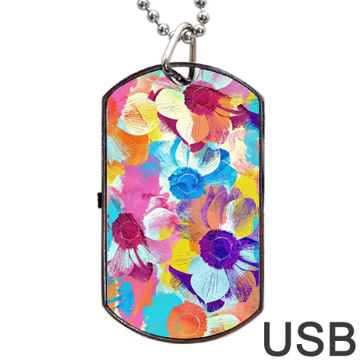 Anemones Dog Tag USB Flash (One Side)