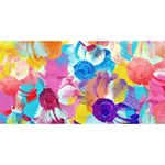 Anemones Twin Heart Bottom 3D Greeting Card (8x4) Front