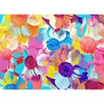 Anemones Clover 3D Greeting Card (7x5) Back