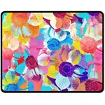 Anemones Double Sided Fleece Blanket (Medium)  58.8 x47.4 Blanket Front