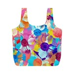 Anemones Full Print Recycle Bags (M)  Back