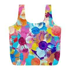 Anemones Full Print Recycle Bags (l)  by DanaeStudio
