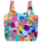 Anemones Full Print Recycle Bags (L)  Back