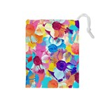 Anemones Drawstring Pouches (Medium)  Front