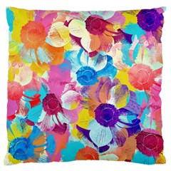 Anemones Large Flano Cushion Case (two Sides) by DanaeStudio