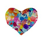 Anemones Standard 16  Premium Flano Heart Shape Cushions Back