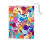 Anemones Drawstring Pouches (Extra Large)