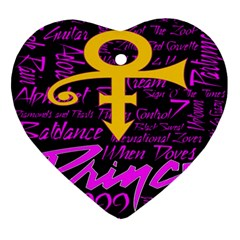 Prince Poster Ornament (heart)  by Onesevenart