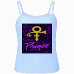 Prince Poster Baby Blue Spaghetti Tank