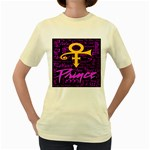 Prince Poster Women s Yellow T-Shirt