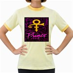 Prince Poster Women s Fitted Ringer T-Shirts
