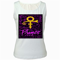 Prince Poster Women s White Tank Top by Onesevenart