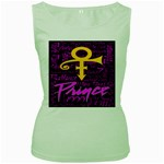 Prince Poster Women s Green Tank Top