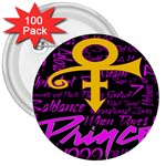 Prince Poster 3  Buttons (100 pack)