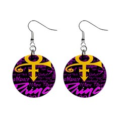 Prince Poster Mini Button Earrings by Onesevenart