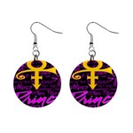 Prince Poster Mini Button Earrings