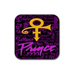 Prince Poster Rubber Square Coaster (4 pack)