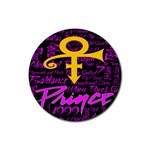 Prince Poster Rubber Round Coaster (4 pack)