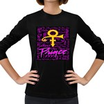Prince Poster Women s Long Sleeve Dark T-Shirts