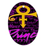Prince Poster Oval Ornament (Two Sides)