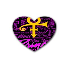 Prince Poster Rubber Coaster (heart)  by Onesevenart