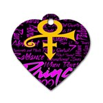 Prince Poster Dog Tag Heart (One Side)