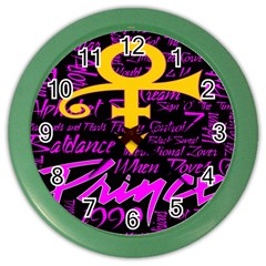 Prince Poster Color Wall Clocks by Onesevenart