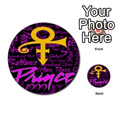 Prince Poster Multi Purpose Cards (round)  by Onesevenart