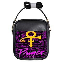 Prince Poster Girls Sling Bags by Onesevenart