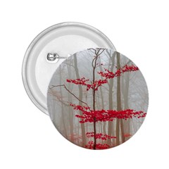 Magic Forest In Red And White 2 25  Buttons by wsfcow