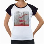 Magic forest in red and white Women s Cap Sleeve T Front