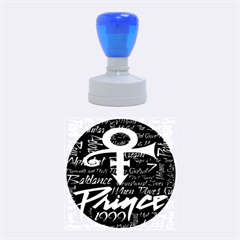 Prince Poster Rubber Round Stamps (medium) by Onesevenart