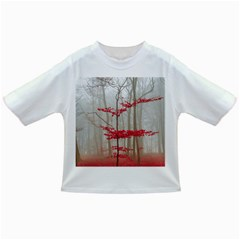 Magic Forest In Red And White Infant/toddler T Shirts